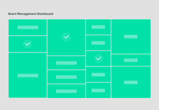 Illustration of event management dashboard using ServiceNow ITOM